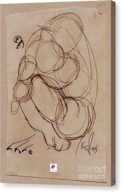Crouching Tiger Canvas Print by Carol Rashawnna Williams