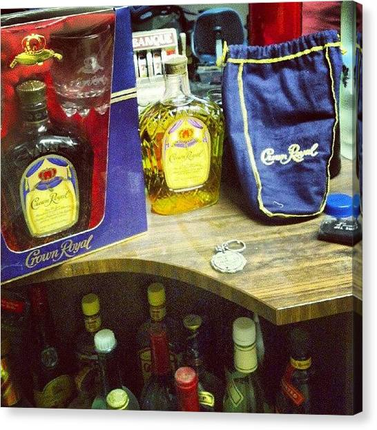 Whiskey Canvas Print - #crownroyal #liquor #bar #drinks #royal by Matt Guzik