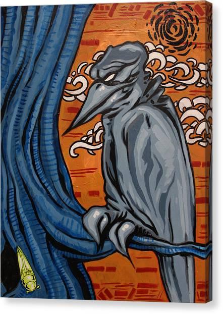 Crows In The Jungle Canvas Print by Joshua Dixon