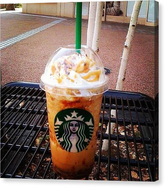 Milk Canvas Print - #crunchy #caramelfrappe #starbucks by Hiroko Melodyheart