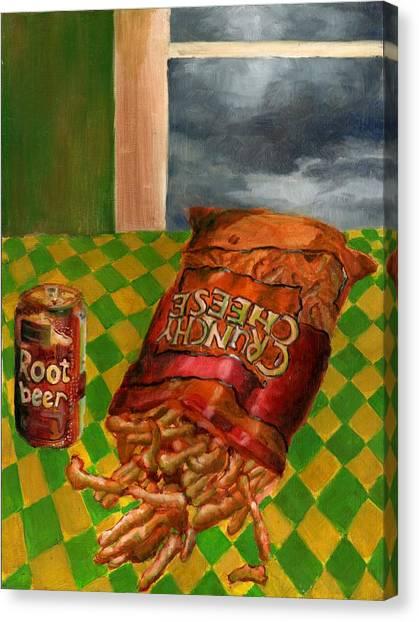 Crunchy Cheese - Spring Canvas Print