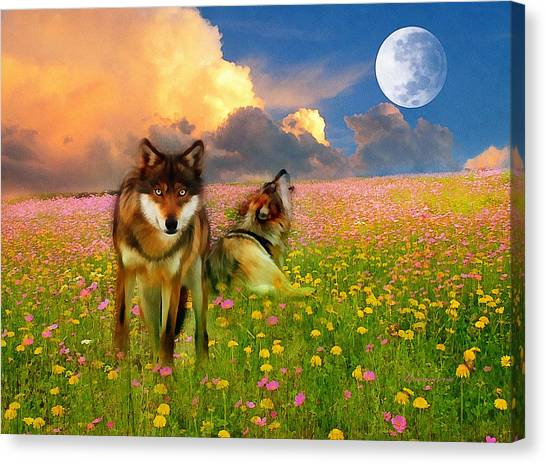 Cry At The Moon Canvas Print