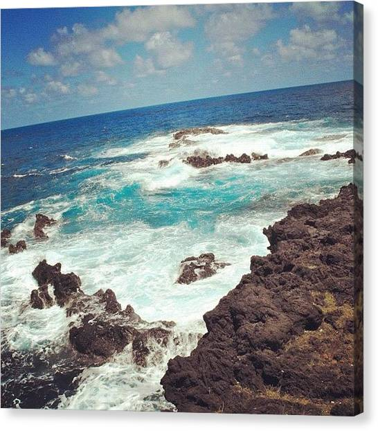 Lava Canvas Print - Crystal Clear Waters by Kerri Lacey
