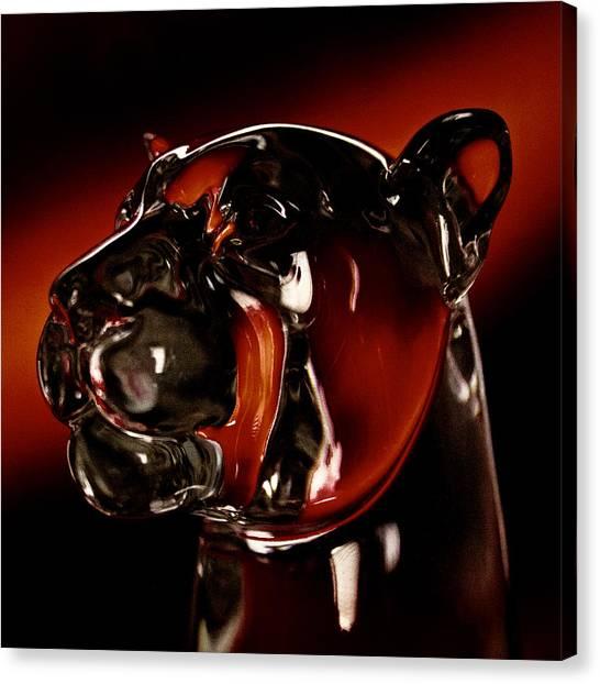 Washington State University Canvas Print - Crystal Cougar Head II by David Patterson
