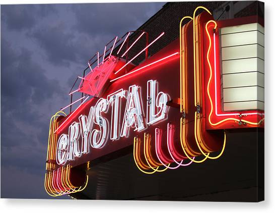 Crystal Theater Neon Canvas Print