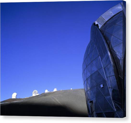 University Of Hawaii Canvas Print - Cso & Other Telescope Domes by G. Brad Lewis