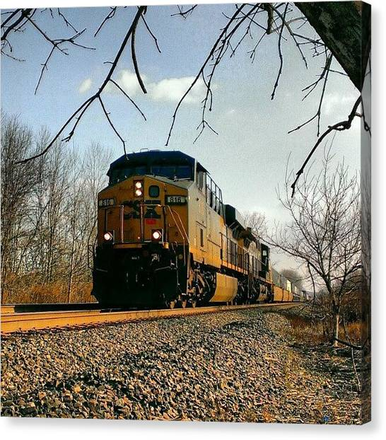 Locomotive Canvas Print - Csx #railroad #railroads #trainlovers by Dan Piraino
