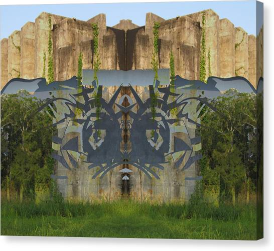 Cube Paintings Canvas Print by Michele Caporaso