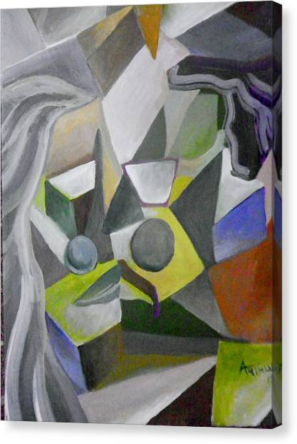 Cubist Kiss Canvas Print by Ben Arthur