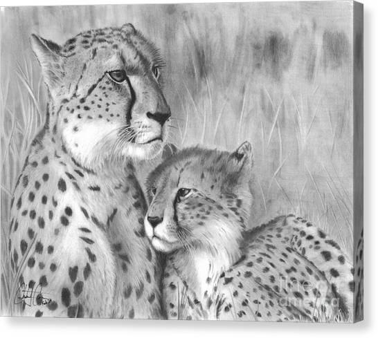 Cuddle Canvas Print