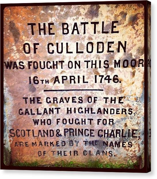 Prince Canvas Print - #culloden #battlefield #memorial #grave by Toonster The Bold