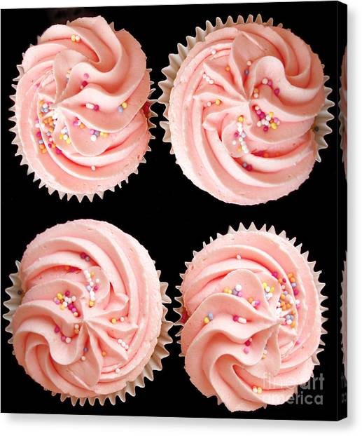 Iced Tea Canvas Print - Cup Cakes by Jane Rix