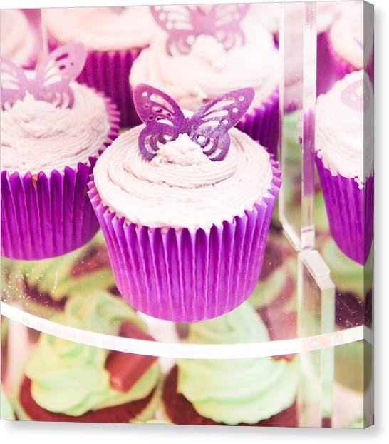 Candle Stand Canvas Print - Cup Cakes by Tom Gowanlock