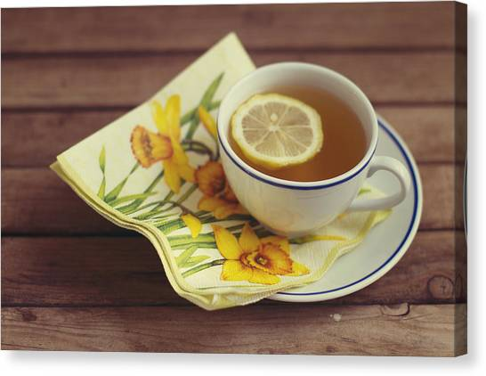 Lemons Canvas Print - Cup Of Tea With Lemon by Copyright Anna Nemoy(Xaomena)