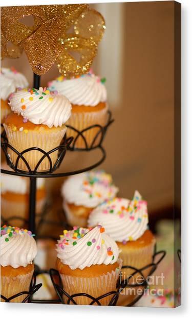Cupcakes Anyone Canvas Print by Melissa Haley