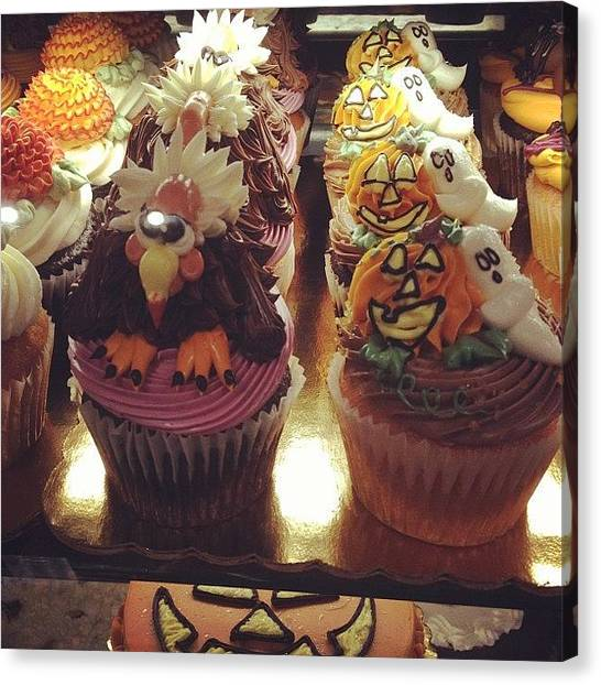 Thanksgiving Canvas Print - #cupcakes #art #pretty #food #halloween by Rachel Korsen