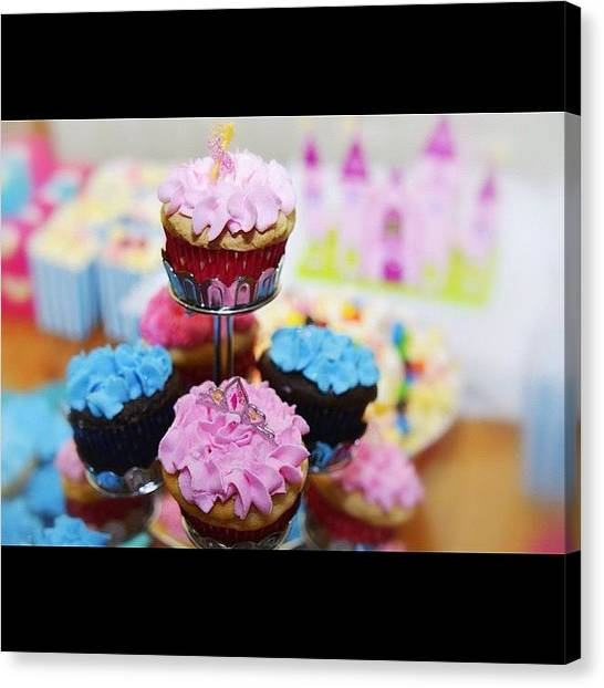 Princess Canvas Print - Cupcakes. #iphone5  #food #dessert by Melaney Wolf