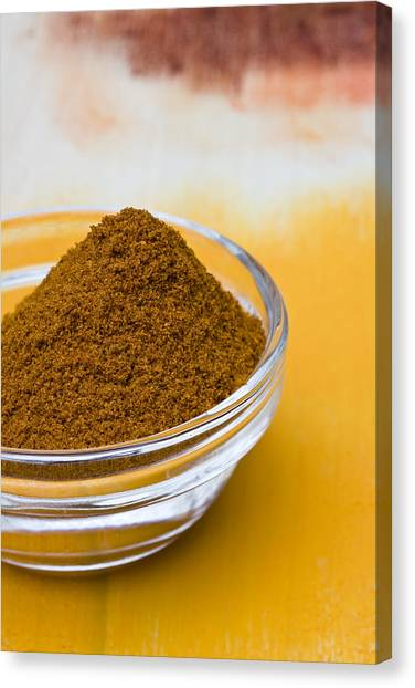 Condiments Canvas Print - Curry Powder by Frank Tschakert