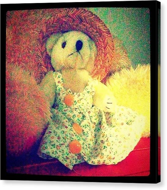 Bears Canvas Print - #cute #little #teddy #bear #summer by Logan Mcpherson
