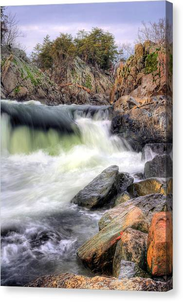 Cutting Through The Rock Canvas Print by JC Findley