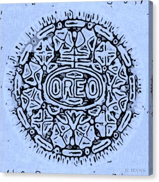 Nabisco Canvas Print - Cyan Oreo by Rob Hans