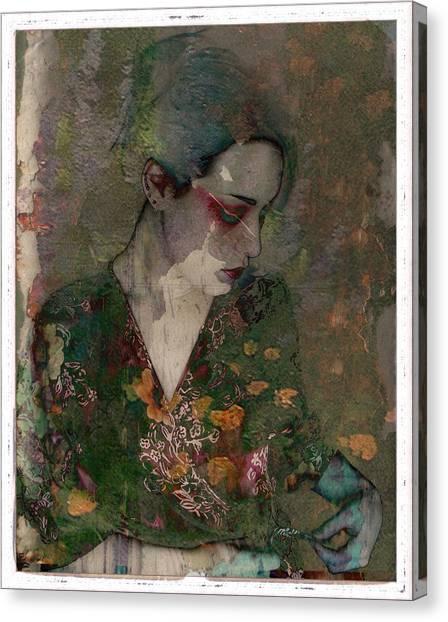 Cybergeisha Vii Canvas Print by Adam Kissel