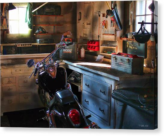 Turn Signals Canvas Print - Cycle Barn 2 by Peter Chilelli