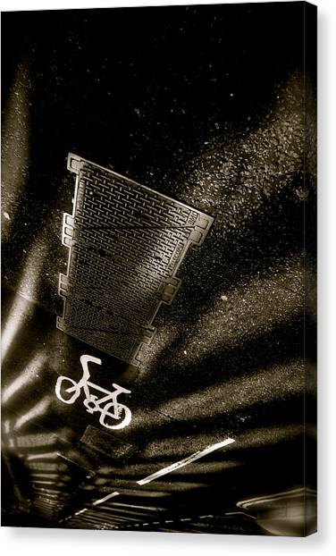 Cycling Shades Canvas Print by Jez C Self