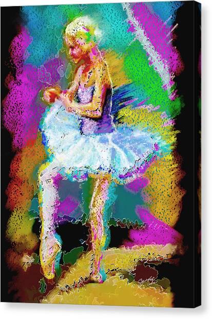Cynthia Ballet Self Portrait Canvas Print by Cynthia Sorensen