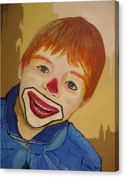 D Clown Canvas Print
