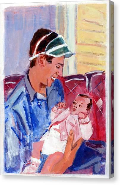 Dad And Me In Hazleton Pennsylvania Canvas Print