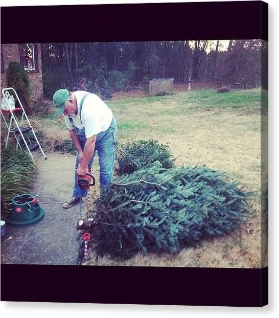 Saws Canvas Print - #dad #christmas #tree #chain #saw by Joshua Wilson