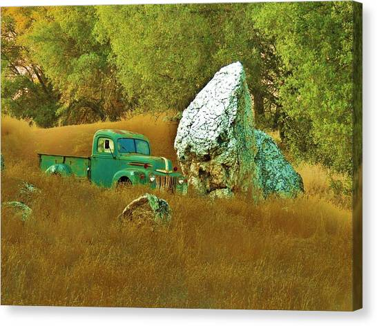 Daddy's Truck Canvas Print by Helen Carson