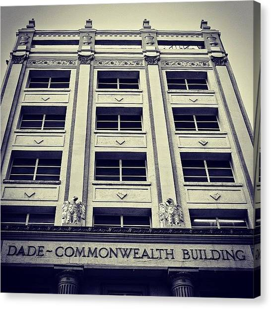 Igers Canvas Print - Dade Commonwealth Bldg. - Miami ( 1925 by Joel Lopez