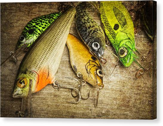 Angler Art Canvas Print - Dad's Fishing Crankbaits by Randall Nyhof
