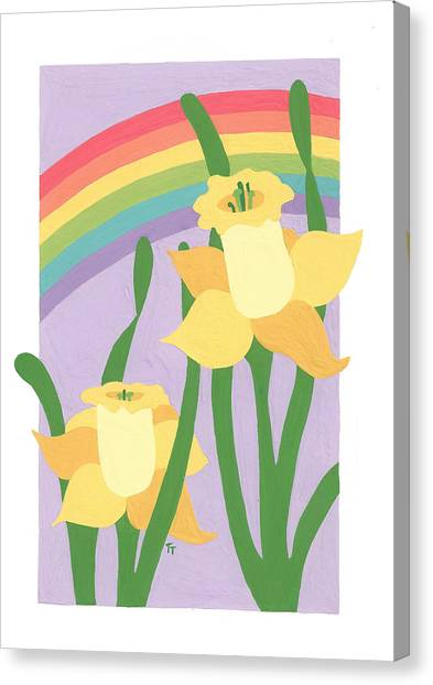 Daffodils And Rainbows II Canvas Print
