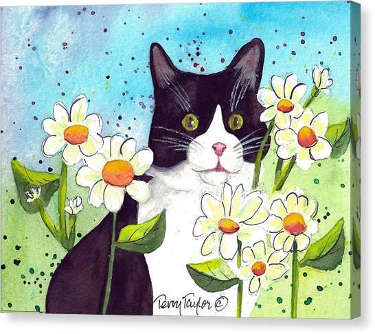 Daisy M. Tuxedo Canvas Print