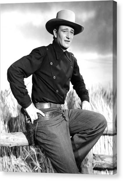 1945 Movies Canvas Print - Dakota, John Wayne, 1945 by Everett