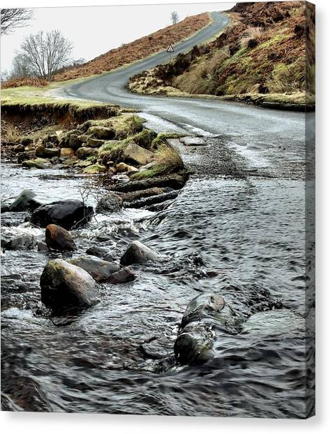 Dalby Forest Ford Canvas Print