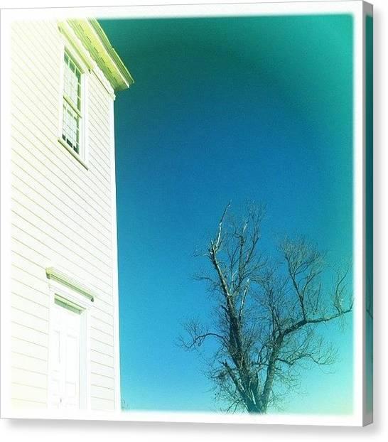Farmhouse Canvas Print - #dalkeith #carolinablue #sky by James Roberts