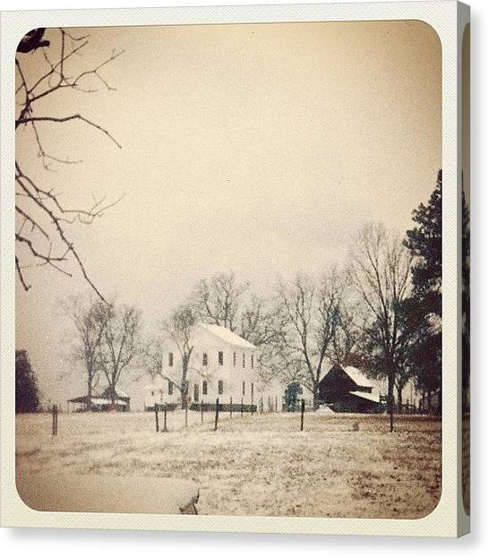 South Carolina Canvas Print - #dalkeith #snow #vintage #south #jamppa by James Roberts