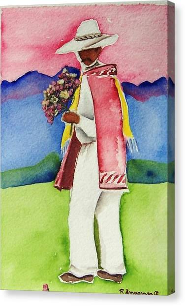 Damien Canvas Print by Regina Ammerman
