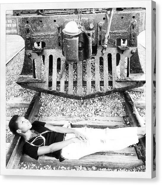 Railroads Canvas Print - Damsel In Distress by Shermaine Nettles