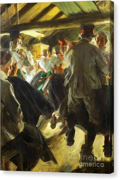 Dance In Gopsmor Canvas Print by Pg Reproductions