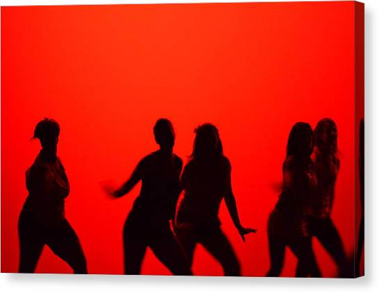Dance Silhouette Group Canvas Print