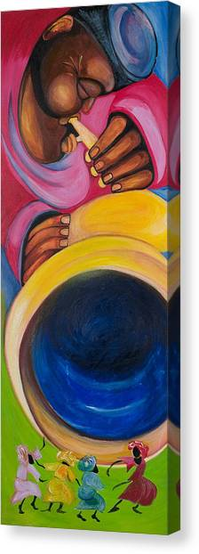 Dance To My Tune Canvas Print by Chibuzor Ejims