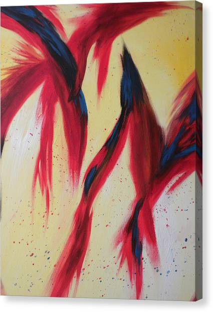 Canvas Print - Dancing Birds by Silvie Kendall