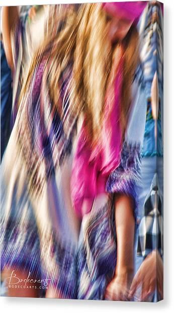 Dancing Hippie Canvas Print