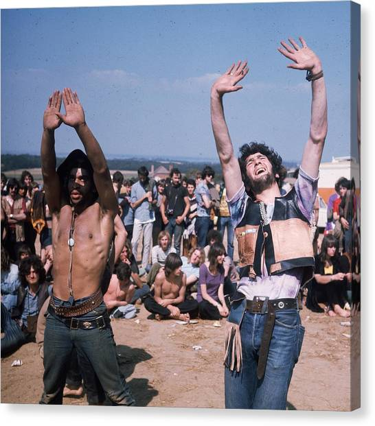 Dancing Hippies Canvas Print by Keystone