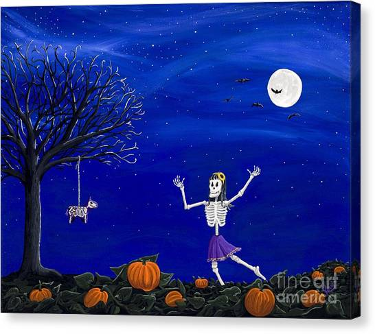 Dancing In The Pumpkin Patch  Canvas Print